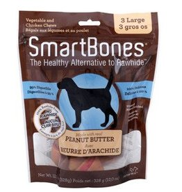 Smart Bones SmartBones Peanut Butter, Large 3 pack