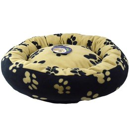 """Unleashed Donut Bed Paw Print 30"""""""