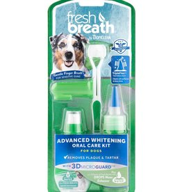 Tropiclean TropiClean Fresh Breath Advanced Whitening Oral Care Kit for Dogs 2oz
