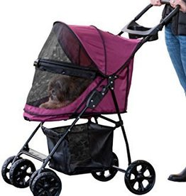 Pet Gear Happy Tails Lite No Zip Stroller Boysenberry