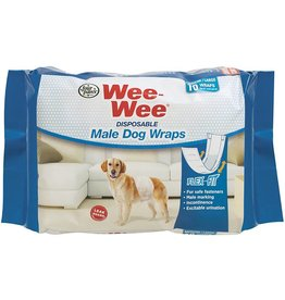 Four Paws Wee Wee Disposable Male Dog Wraps 10PK Med/Large