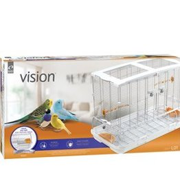 Vision Bird Cage for Large Birds (L01) - Single Height - Small Wire - 78 x 42 x 56 cm (30.7 L x 16.5 W x 22 in H)