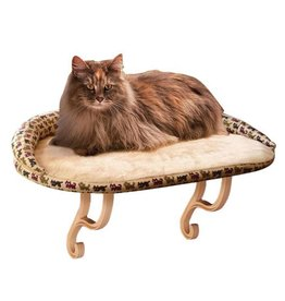K&H Deluxe Kitty Sill with Bolster Tan