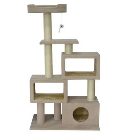 Animal Treasures Animal Treasures Cat Tree Scratcher - Tower Condo - 51""