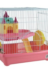 Animal Treasures Animal Treasures Small Animal Castle Cage - Pink