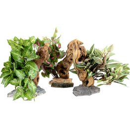 Habi-Scape Habi-Scape Tropical Plant with Driftwood