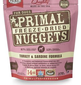 Primal Primal Freeze-Dried Nuggets Canine Turkey & Sardine Formula 14oz