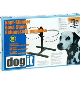 Dogit Dogit Adjustable Dog Bowl Stand, Medium, fits 2 x 1.5L (50 oz) bowls