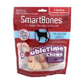 Smart Bones SmartBones DoubleTime Bones, Chicken, Medium, 3 pack