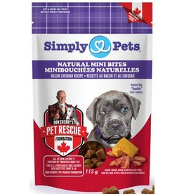 Simply Pets Simply Pets Mini Bites Bacon Cheddar Dog Treats