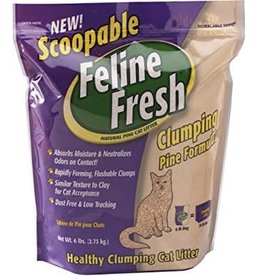 Feline Fresh Scoopable Clumping Pine Cat Litter 17lbs