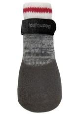 Foufou Fou Fou Dog Heritage Rubber Dipped Socks Charcoal XL