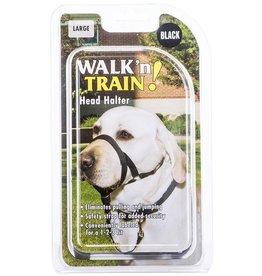 Coastal Pet Walk n Train Head Collar Black Large