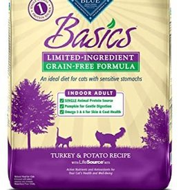 Blue Buffalo Blue Basics Limited Ingredient Indoor Adult Grain Free Turkey & Potato Recipe 11LB