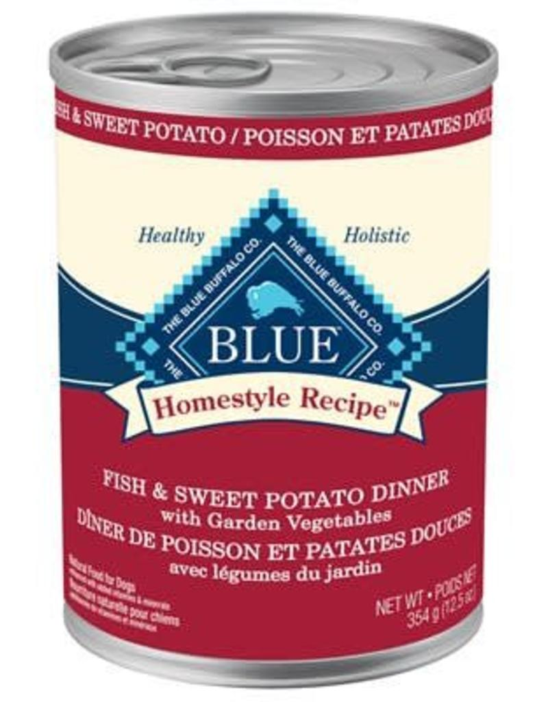 Blue Buffalo Blue Homestyle Recipe Adult Fish & Sweet Potato Dinner with Garden Vegetables 12.5 oz