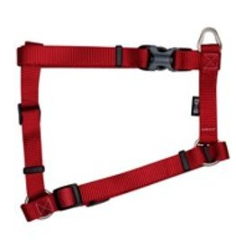 "Zeus Nylon Dog Harness - Deep Red - XLarge - 2.5 cm x 61-100 cm (1"" x 24""-39"")"