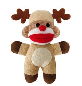 BaxterBoo Sock Monkey Reindeer Large