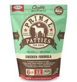 Primal Primal Frozen Canine Chicken Patties 6lb