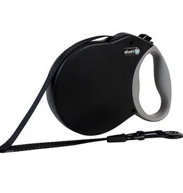 Alcott Alcott Adventure Retractable Leash - Black - Small