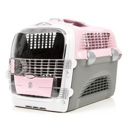 Catit Catit Design Cabrio Cat Multi-Functional Carrier System - Pink/Gray - 51 cm L x 33 cm W x 35 cm H (20 in x 13 in x 13.75 in)
