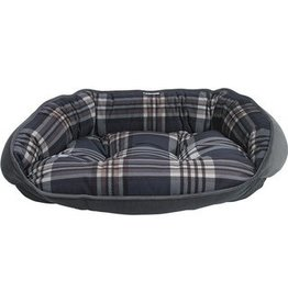 bowsers Bowsers Crescent Bed Greystone Tartan XXL