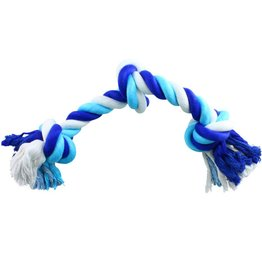 "Animal Treasures Animal Treasures Coloured 3 Knot Rope Toy - 12"""