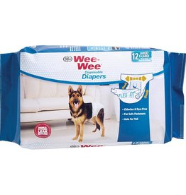 Four Paws WeeWee Diapers Large - XLarge 12PK