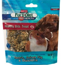 Kaytee Forti-Diet Pro Health Healthy Bits Treats for Rabbits, Guinea Pigs & Chinchillas - 4.5 oz