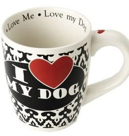 Petrageous I heart my dog mug