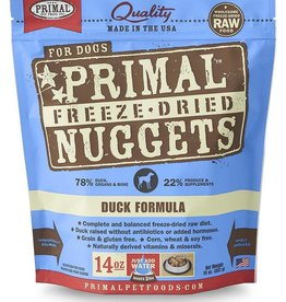 Primal Primal Freeze-Dried Nuggets Canine Duck Formula 5.5oz