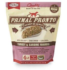 Primal Primal Frozen Turkey & Sardine Pronto Formula 4lb
