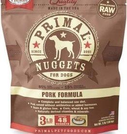 Primal Primal Frozen Pork Nugget Dog 3lb