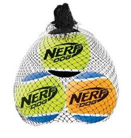 NERF Nerf Dog Squeak Tennis Balls, 3 pack, Small, 2""