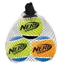 NERF Nerf Dog Squeak Tennis Balls, 3 pack, Medium, 2.5""
