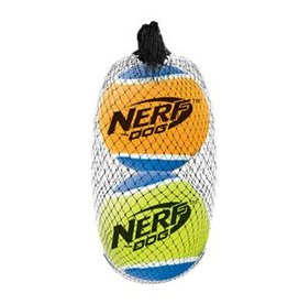 NERF Nerf Dog Squeak Tennis Balls, 2 pack, Large, 3""