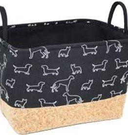 Goodie Storage Box Black Doggie 20x17x13