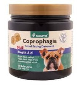 NaturVet Naturvet Coprophagia Deterrent Plus Breath Aid Soft Chews 130ct