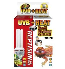 Zoo Med Zoo Med Heat & UVB Combo Pack 100W