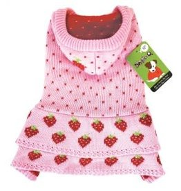 Doggie-Q Doggie-Q Hooded Pink Strawberry Shortcake 18in