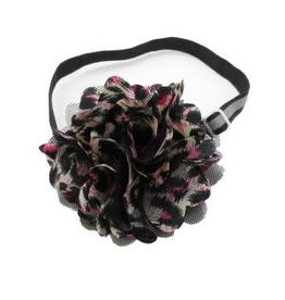 Bandanas Republic Inc Chettah Flower Bow Neck Tie Collar
