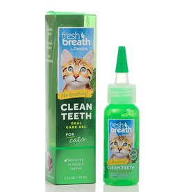 Tropiclean Fresh Breath Oral Care Gel for Cats 2oz