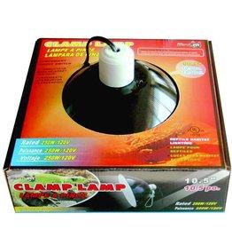 "Repti Fit Black Dome Clamp Lamp 10"""