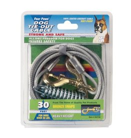 Four Paws Tie-Out Cable for Dogs - Heavy Weight - 30 ft