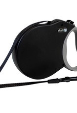 Alcott Alcott Adventure Retractable Leash - Black - Medium