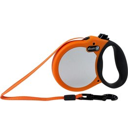 Alcott Alcott Adventure Visibility Retractable Leash - Neon Orange - Small