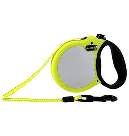 Alcott Alcott Adventure Visibility Retractable Leash - Neon Yellow - Small