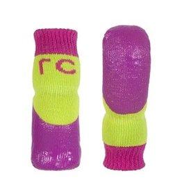RC Pets RC Pets Sport PAWks Dog Socks  Lime/Azalea L