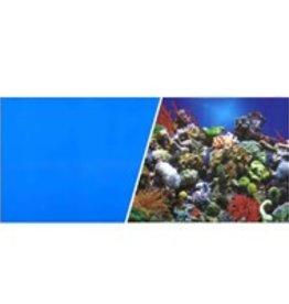 "Marina Marina Double Sided Aquarium Background - Reef Aquarium/Solid Royal Blue - 18"" x 1ft"