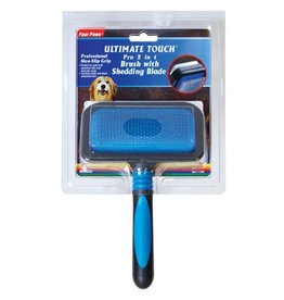 Four Paws Ultimate Touch Pro 2 in 1 Brush with Shed 'N Blade - Medium