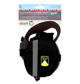 Alcott Alcott Essentials Retractable Leash Luggage - Black - Large